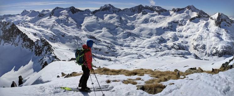 Panorámica hacia Contraix y Punta Alta