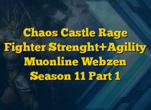 Chaos Castle Rage Fighter Strenght+Agility Muonline Webzen Season 11 Part 1