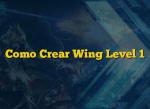 Como Crear Wing Level 1