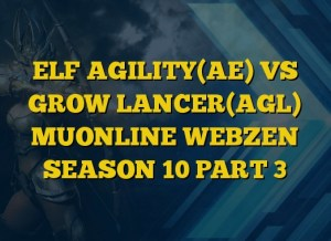 ELF AGILITY(AE) VS GROW LANCER(AGL) MUONLINE WEBZEN SEASON 10 PART 3