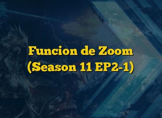 Funcion de Zoom (Season 11 EP2-1)