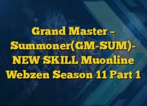 Grand Master – Summoner(GM-SUM)- NEW SKILL Muonline Webzen Season 11 Part 1