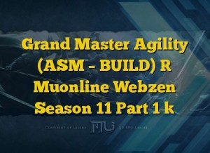 Grand Master Agility (ASM – BUILD) [ Muonline Webzen Season 11 Part 1 ]