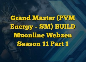 Grand Master (PVM Energy – SM) BUILD Muonline Webzen Season 11 Part 1
