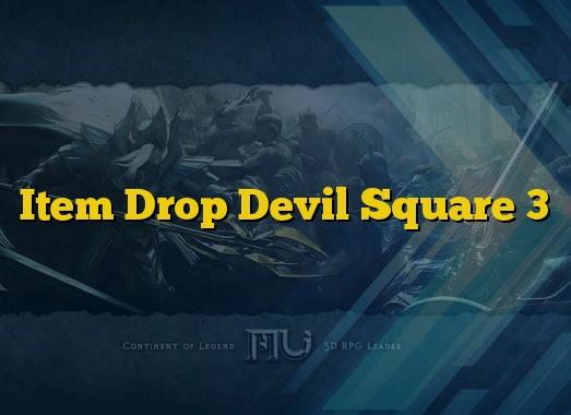 Item Drop Devil Square 3