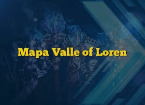 Mapa Valle of Loren