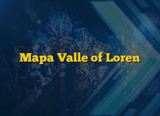 Mapa Valle of Loren