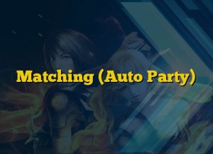 Matching (Auto Party)