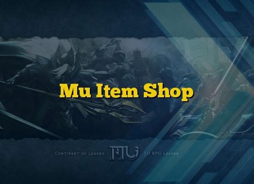 Mu Item Shop