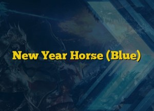 New Year Horse (Blue)