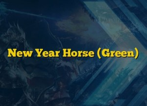 New Year Horse (Green)