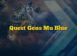 Quest Gens Mu Blue