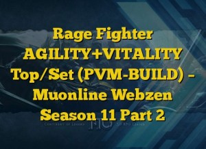 Rage Fighter AGILITY+VITALITY Top/Set (PVM-BUILD) – Muonline Webzen Season 11 Part 2