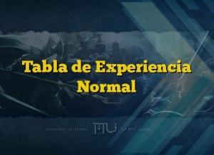 Tabla de Experiencia Normal