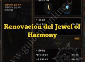 Renovacion del Jewel of Harmony