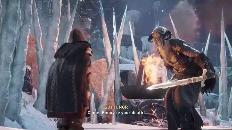 derrotar a suttungr para completar una fiesta para recordar la misión en assassin's creed valhalla