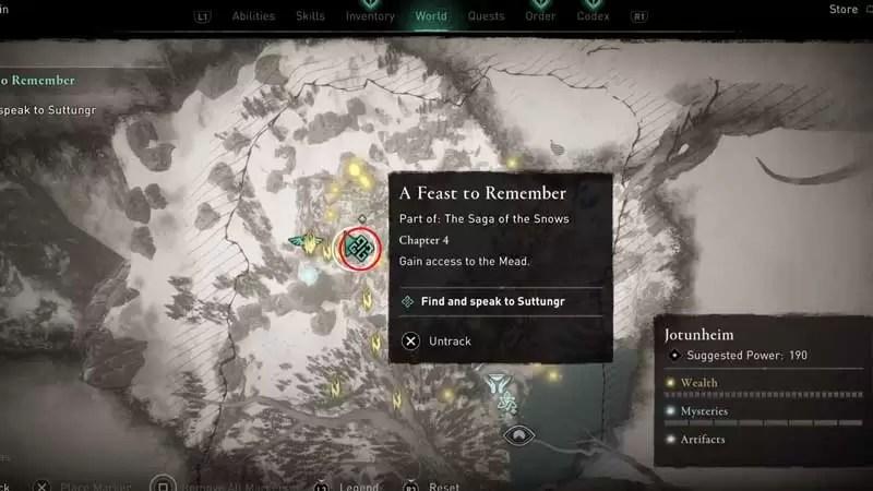 Cómo completar un Festín para el Recuerdo en Assassin's Creed Valhalla