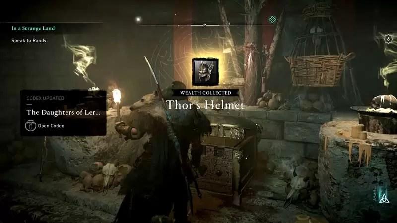 cómo conseguir el casco de thor en assassin's creed valhalla