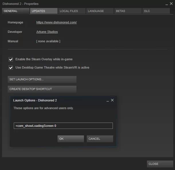 Dishonored 2: Cómo omitir la introducción