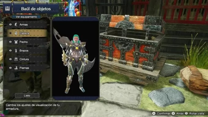 Ocultar casco en Monster Hunter Rise