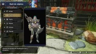 Ocultar casco en Monster Hunter Rise