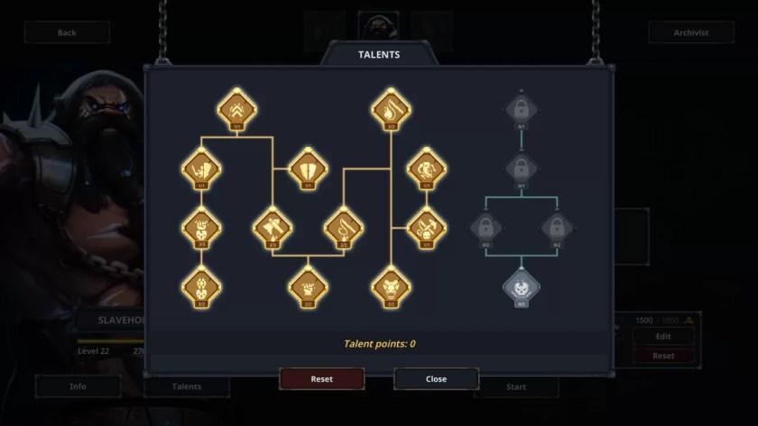 Construcción de maestro de esclavos del modo Ascensión de Legend of Keepers (basado en la moral)