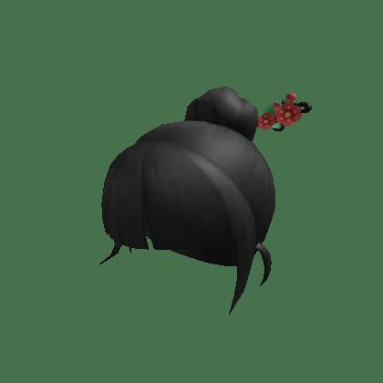 Bun Hair with Flower Hairpin