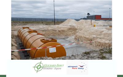 Aéroport de Paris-Vatry : implantation, contrôle et ajustement de cuves de kérozène