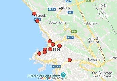 mappa stazioni bike sharing a trieste
