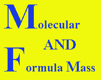 molecular mass and formula mass