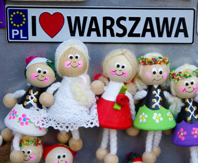 Varsavia è piena di negozi e bancarelle di souvenir.