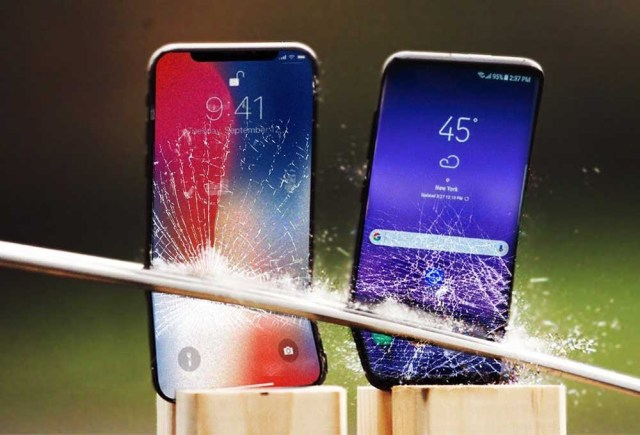 Comparatif iPhone et Samsung