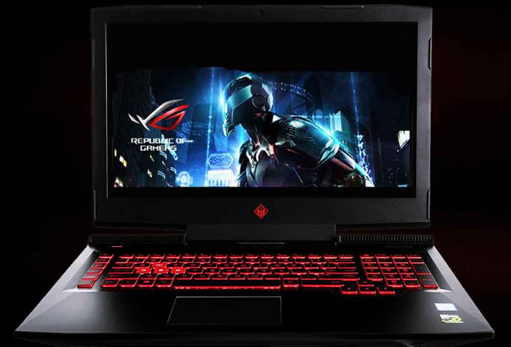 Le laptop de gaming OMEN 17-AN106NF de la marque Hewlett Packard bénéficie  d un moniteur plus large qui totalise une dimension de 17,33 pouces. d0cc18b80b59