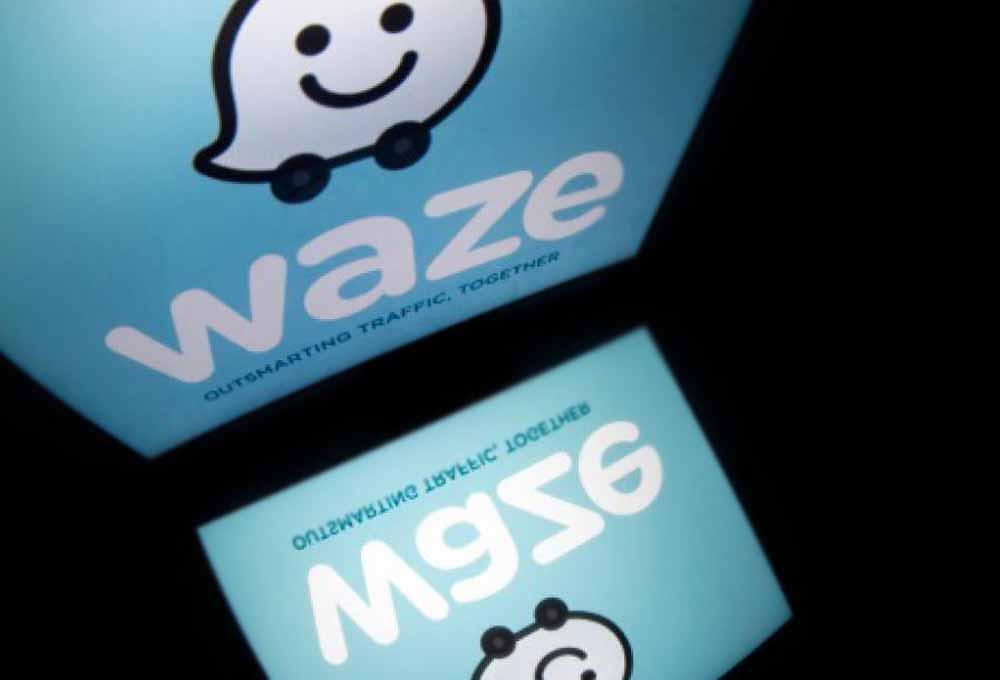 GPS waze application