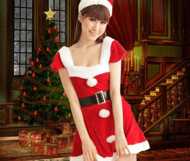 Get Quotations  C B Christmas Santa Claus Costume Christmas Dress Christmas Costume Christmas Costume Female Costumes Party Costumes Ds Cos