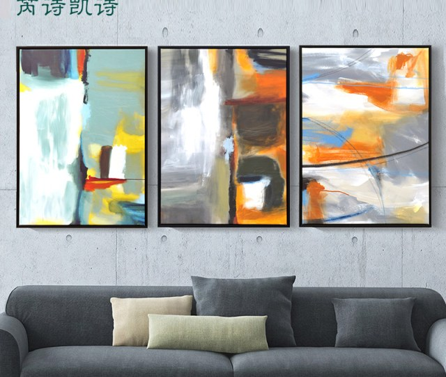 Get Quotations  C B American Retro Living Room Decorative Painting Abstract Art Paintings Abstract Painting Triptych Paintings Company Hotel Clubs