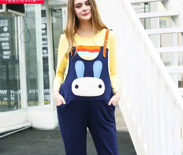 Pregnant Maternity Overalls Maternity Pants Maternity Leggings Spring Thin Section Trousers Big Yards Prop Belly Pants