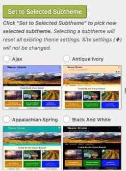 Select subtheme