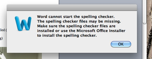 spell check on word mac 2011