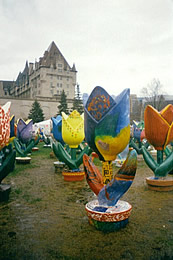 A display of handcrafted tulips - just one of the perks of Ottawas Tulip Festival. Photo: Brian Waterman