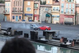 Cars almost collide - Lights Motors Action - Disney Hollywood Studios Attraction