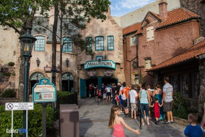 Line Outside - Maelstrom - Epcot Attraction