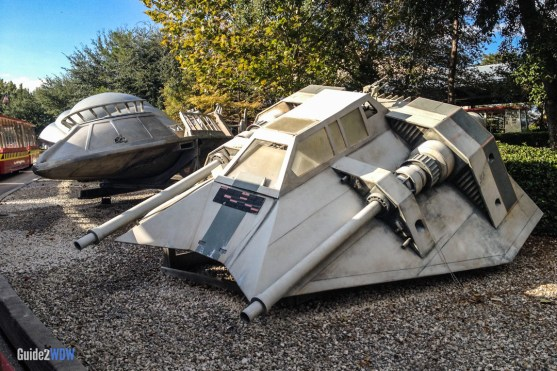 Star Wars Snow Speeder - Studio Backlot Tour - Hollywood Studios Attraction