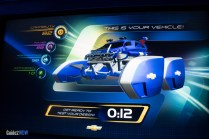 Test Track - Car Design 3 - Blue with Fins
