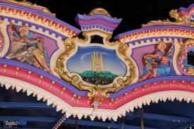 Cinderella Detail - Prince Charming Carousel - Magic Kingdom Attraction