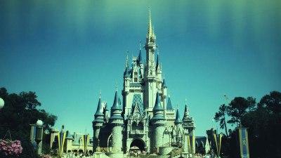 Cinderella Castle with Retro Filter
