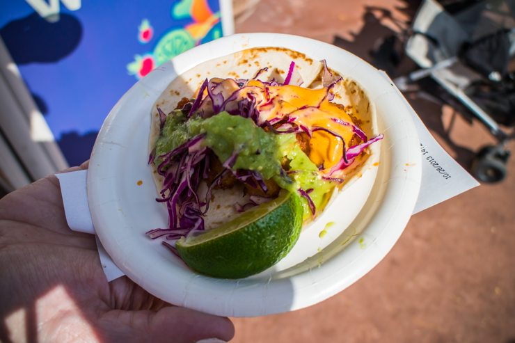 Shrimp Taco - Mexico - Epcot Food and Wine Festival