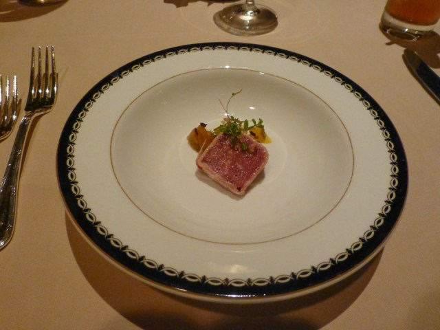 Venison Amuse-Bouche - Victoria & Albert's -  Disney World Dining