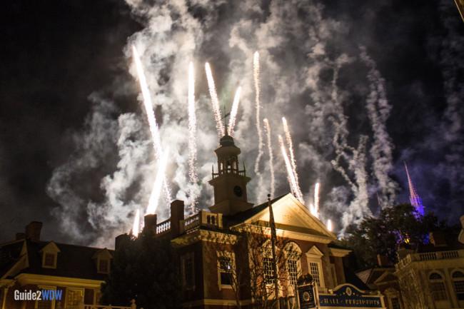 Liberty Square - Magic Kingdom Fireworks