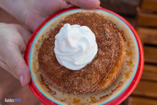 Epcot Croissant Donut with Ice Cream - Disney World Dining